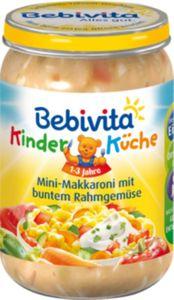 Bebivita Kinder-Küche Mini-Makkaroni mit buntem Rahmgemüse 250 g