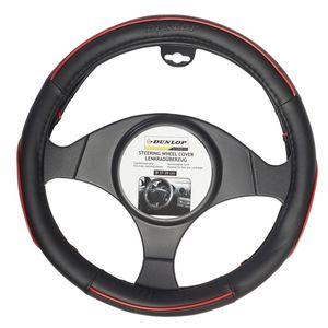 DUNLOP Lenkradschutz - schwarz mit roten Deko-Streifen