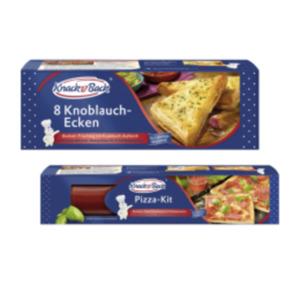 Knack & Back Pizza-Kit oder Knoblauch-Ecken