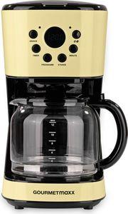 GOURMETmaxx Kaffeemaschine Retro 900W mit Timer, vanille