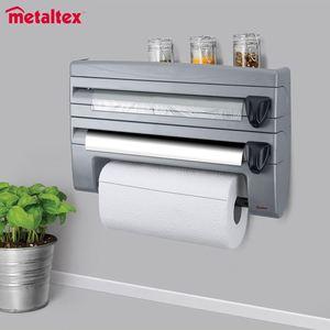 Metaltex Küchenrollenhalter roll´n´roll Grau
