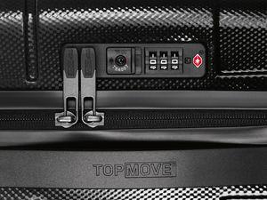 TOPMOVE® Polycarbonat-Koffer 53L, schwarz