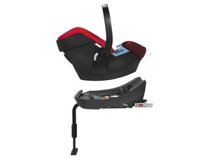 CYBEX SILVER Set Babyschale Aton Rumba Red und Base-Fix SL