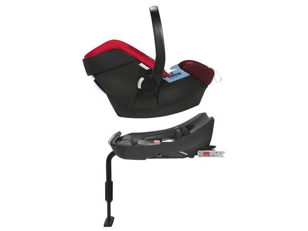 CYBEX SILVER Set Babyschale Aton Rumba Red und Base-Fix SL