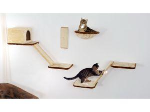 SILVIO design Katzen-Kletterwand mit Treppe