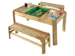Plum® Holz-Activity-Tisch mit Bänken