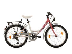 KS Cycling Kinderfahrrad Mädchenfahrrad 20 Zoll Fabulous weiß-rosa