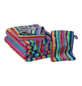 """Cawö             Waschhandschuh """"Streifen Mode"""", 100% Baumwolle, gestreift, 16 x 22 cm"""