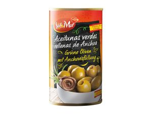 Grüne Oliven mit Anchovisfüllung