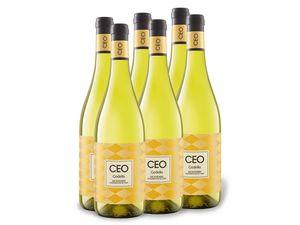 6 x 0,75-l-Flasche CEO Godello Monterrei D.O. trocken, Weißwein