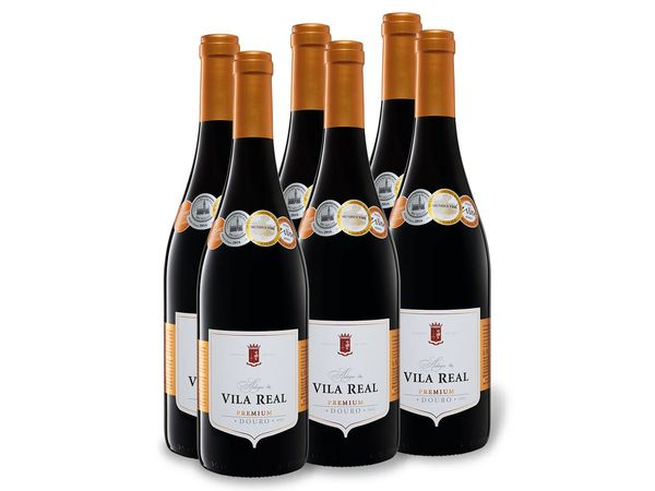 6 x 0,75-l-Flasche Vila Real Premium Douro DOC trocken, Rotwein