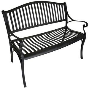 Gartenbank Napoli 2-Sitzer antik-grau 110x57x84 cm aus Aluguss