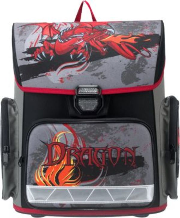 Schulranzenset Compact Fire Dragon, 4-tlg. (Kollektion 2018)