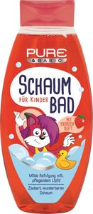 Pure & Basic Schaumbad für Kinder mit Erdbeerduft 500 ml