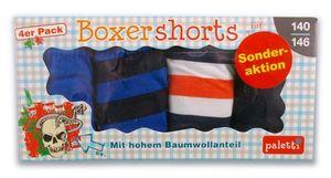 Boxershorts für Jungs 4er 116-122 blau-schwarz/weiß-orange-dunkelblau ...