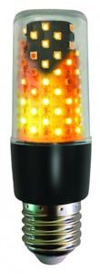 LED Flammenlicht Schwarz ,  E 27 - 3 W
