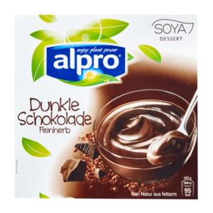 alpro Soya Dessert Dunkle Schokolade