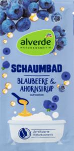 alverde NATURKOSMETIK Schaumbad Blaubeere & Ahornsirup