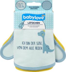 babylove Lätzchen aus Stoff, Ich bin der Süße / Dino