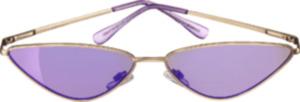 SUNDANCE Sonnenbrille für Erwachsene Cateye gold mit lila Scheiben