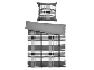 Setex Comfort Feinbiber Bettwäsche Plaid Pattern grau
