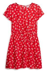 Rotes Kleid mit Blumen (Teeny Girls)
