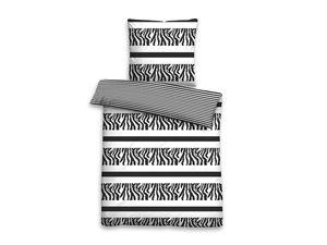 Castell Biber Bettwäsche Black & White Zebra