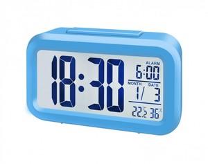 Bresser® MyTime Duo LCD Wecker (Gehäuse blau)
