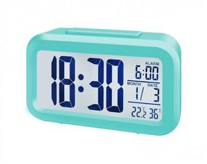 Bresser® MyTime Duo LCD Wecker (Gehäuse türkis)