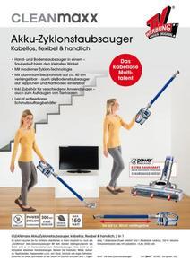CLEANmaxx Akku-Zyklon-Staubsauger 2in1 14,8V