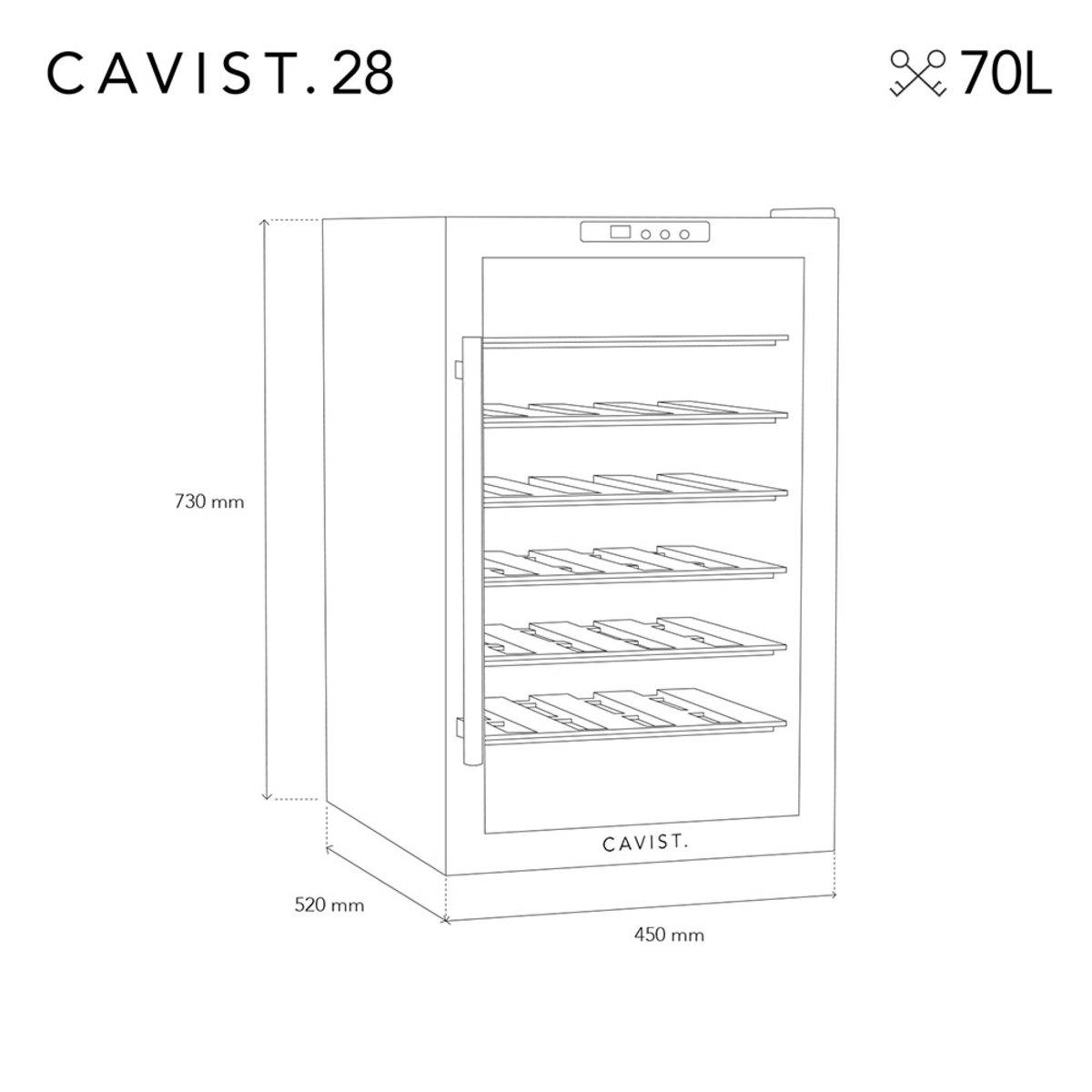 Bild 3 von CAVIST Weinkühlschrank für 28 Flaschen