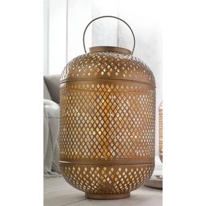 casaNOVA Laterne mit LED Lichterkette H. 40 cm aus Metall