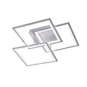 WOFI LED Deckenlampe 3-flg MODESTO Silberfarbig