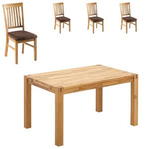 Essgruppe Royal Oak (140x90, 4 Stühle, braun)
