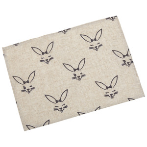 Oster-Tischset Rabbit (33x45, grau)