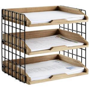 Briefablage Cage Braun/Schwarz