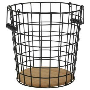 Papierkorb Cage Braun/Schwarz