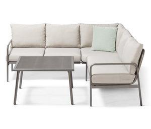 Garten-Dining-Lounge-Set, Ecke