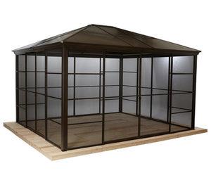 Sojag-Premium-Pavillon »Castel« mit Schiebetüren, ca. 362 x 298 x 283 cm
