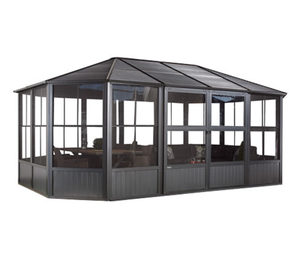 Sojag-Pavillon »Charleston« mit Stahldach und Türen, ca. 384 x 384 cm