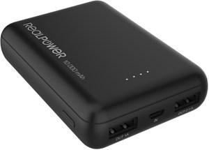 RealPower PB-10000 mini HD Powerbank schwarz