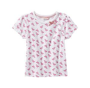 Liegelind Baby-Mädchen-T-Shirt mit Flamingo-Muster