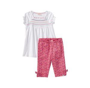 Liegelind Baby-Mädchen-Set mit Zierschleifen, 2-teilig
