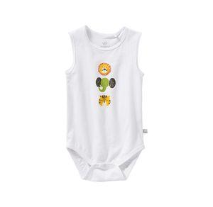 Liegelind Baby-Jungen-Body mit Tier-Frontaufdruck