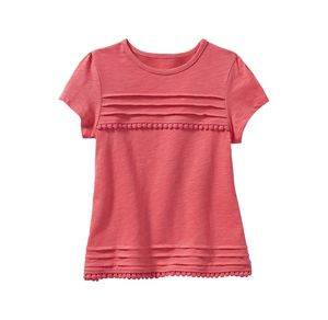 Kids Mädchen-T-Shirt mit schicker Spitze