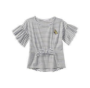 Kids Mädchen-T-Shirt mit Schmetterlings-Stickerei