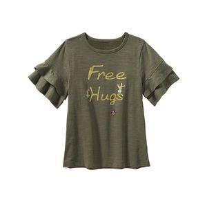 Kids Mädchen-T-Shirt mit Volant