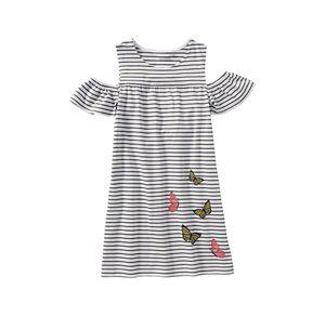 Kids Mädchen-Kleid mit Ringelmuster