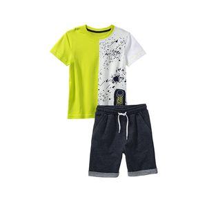 Kids Jungen-Set mit Farbspritzer-Muster, 2-teilig