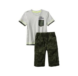 Kids Jungen-Set in Camouflage-Optik, 2-teilig